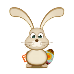 Easter Bunny Rss Egg Sticker