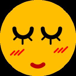 Girl Blushing Sticker