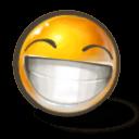 Grin Sticker