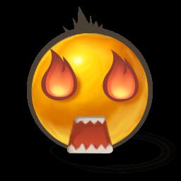 Eyes On Fire Sticker
