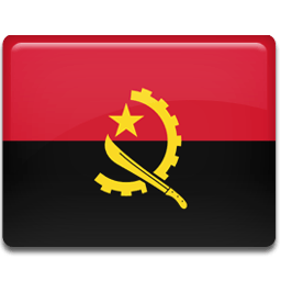 Angola Flag Sticker