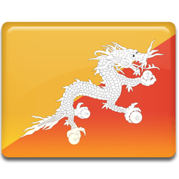 Bhutan Flag Sticker