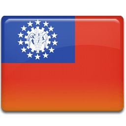 Burma Flag Sticker