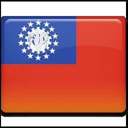 Burma Flag Sticker