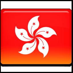 Hong Kong Flag Sticker