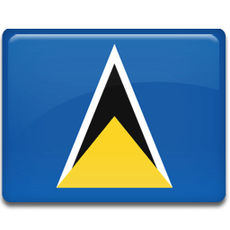 Saint Lucia Flag Sticker