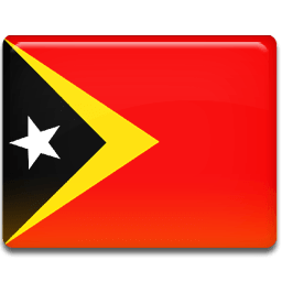 Timor Leste Flag Sticker