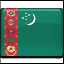 Turkmenistan Flag Sticker