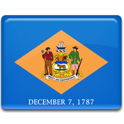 Delaware Flag Sticker