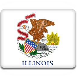 Illinois Flag Sticker