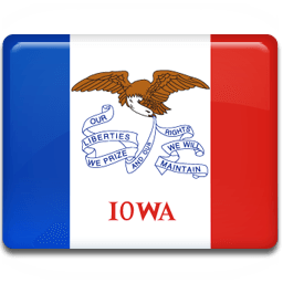Iowa Flag Sticker