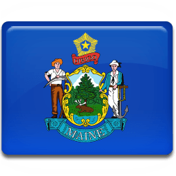 Maine Flag Sticker