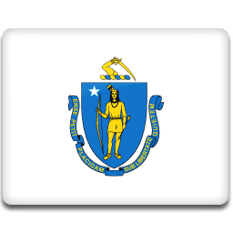 Massachusetts Flag Sticker