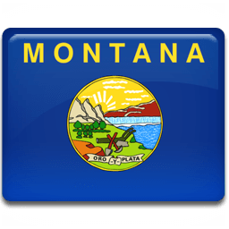 Montana Flag Sticker