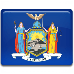 New York Flag Sticker