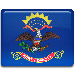 North Dakota Flag Sticker