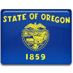 Oregon Flag Sticker