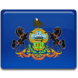 Pennsylvania Flag Sticker
