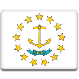 Rhode Island Flag Sticker