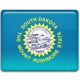 South Dakota Flag Sticker