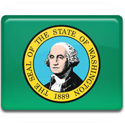 Washington Flag Sticker