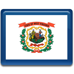 West Virginia Flag Sticker
