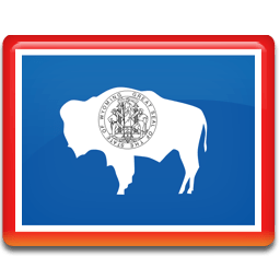 Wyoming Flag Sticker