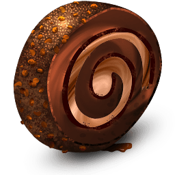 Chocolate Cream Roll Sticker