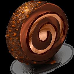 Chocolate Cream Roll Sticker