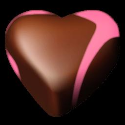 Chocolate Hearts 02 Sticker