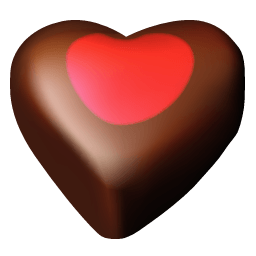 Chocolate Hearts 03 Sticker