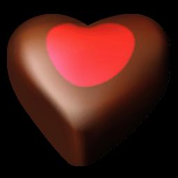 Chocolate Hearts 03 Sticker