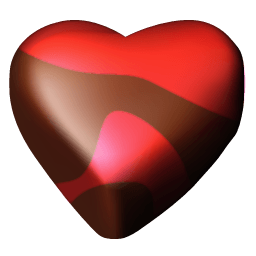 Chocolate Hearts 04 Sticker