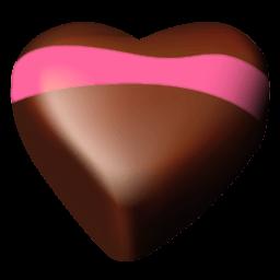 Chocolate Hearts 05 Sticker