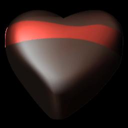Chocolate Hearts 06 Sticker