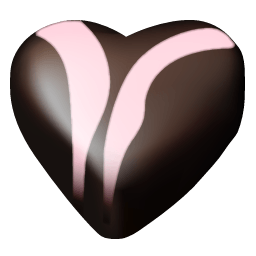 Chocolate Hearts 07 Sticker