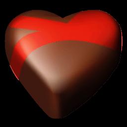 Chocolate Hearts 09 Sticker
