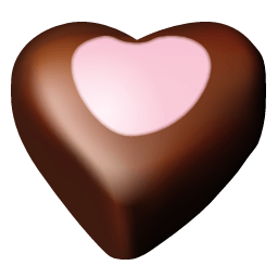 Chocolate Hearts 10 Sticker