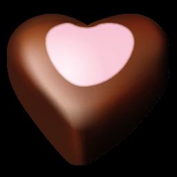 Chocolate Hearts 10 Sticker