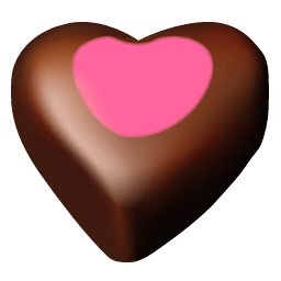 Chocolate Hearts 11 Sticker