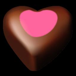 Chocolate Hearts 11 Sticker