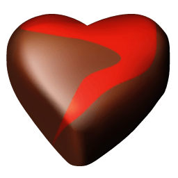 Chocolate Hearts 12 Sticker