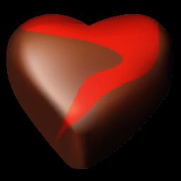 Chocolate Hearts 12 Sticker
