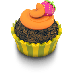 Chocolate Orange Cupcake Sticker
