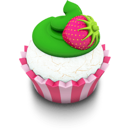 Vanilla Cupcake Sticker