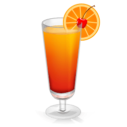 Cocktail Tequila Sunrise Sticker