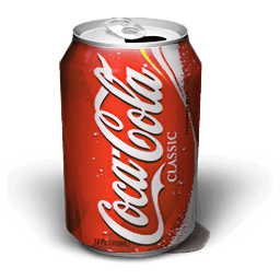 Coca Cola Smudge Sticker