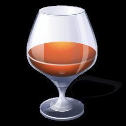Alcohol Brandy Sticker