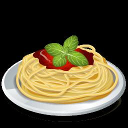Dish Pasta Spaghetti Sticker
