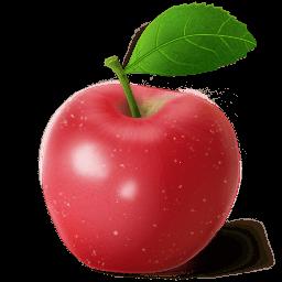 Apple Red Sticker